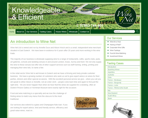 Wine-Net - build, implementation