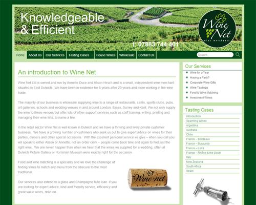 Wine-Net - build, implementation